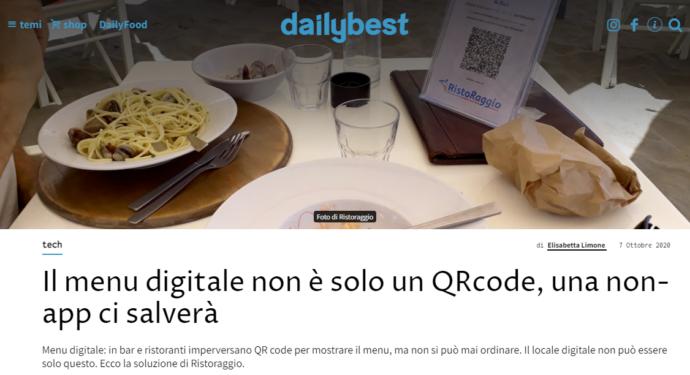 Il menu digitale non è solo un QrCode