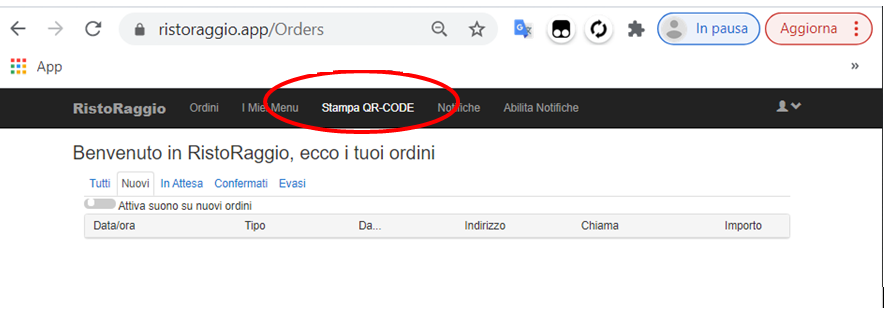 stampa qr code